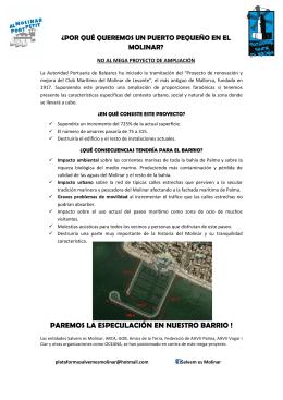PAREMOS LA ESPECULACIÓN EN NUESTRO BARRIO !