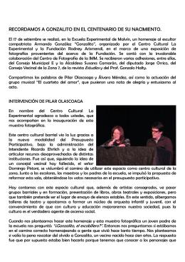 Intervención del Profesor Álvaro Méndez y Intervención de Pilar