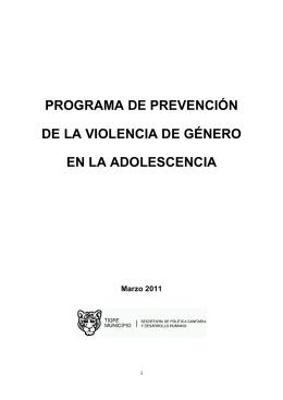programa de prevención de la violencia de género en la adolescencia