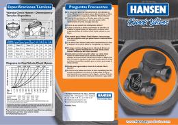 Brochure Válvula Check Tipo Retención
