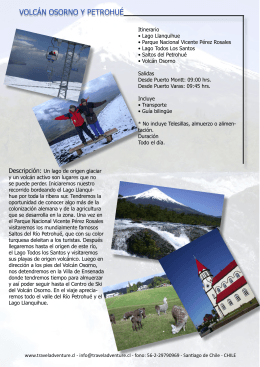Descargar Folleto PDF - Travel Adventure Chile