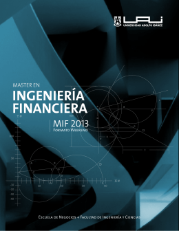 INGENIERÍA FINANCIERA - Universidad Adolfo Ibáñez