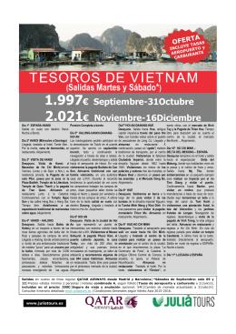 TESOROS DE VIETNAM (Media Pensión)