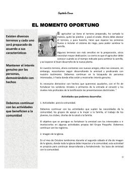 EL MOMENTO OPORTUNO