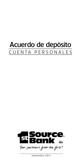 Acuerdo de depósito