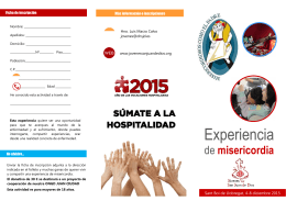 folleto experiencia de misericordia 2015