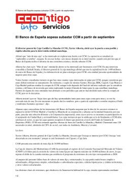 El Banco de España sopesa subastar CCM a partir de