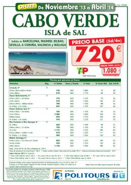 PRECIO BASE - Viajes