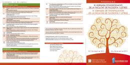 Más información - Facultad de Filosofía y Letras