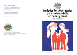 Cuidados Post Operatorios para la circuncisión en bebés y niños