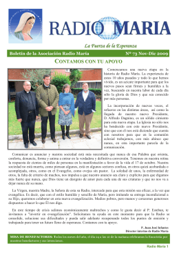 Boletin 73-2009 - Radio María España