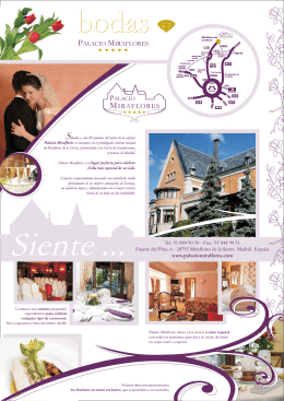Wedding brochure - Palacio de Miraflores