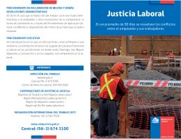 Folleto Justicia Laboral