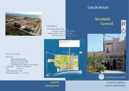 FOLLETO CARTA DE SERVICIOS SG