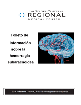 Subarachnoid Hemorrhage Information (Spanish)