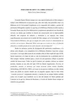 Fernando Huarte y el libro antiguo - E