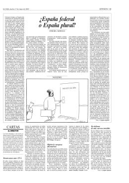 """¿España federal, España plural?"""" El País, 17 mayo 2005"""