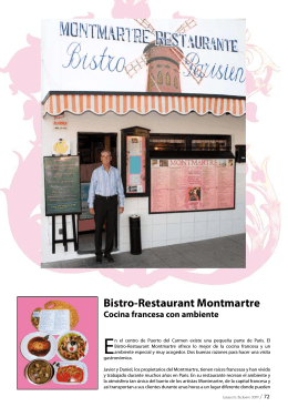 Bistro-Restaurant Montmartre Cocina francesa