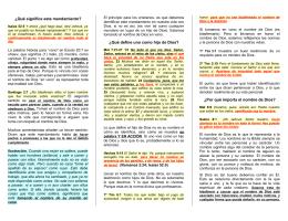 Eb11 No Tomes Mi Nombre en Vano - Folletos y Tratados Evangelicos