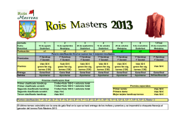 Folleto Resumen Rois Master 2013