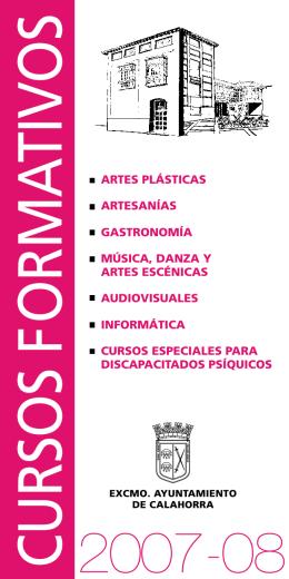 CURSOS FORMATIVOS - Ayuntamiento de Calahorra