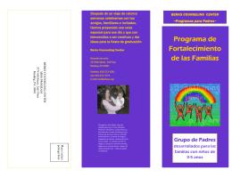Programa de Fortalecimiento de las Familias