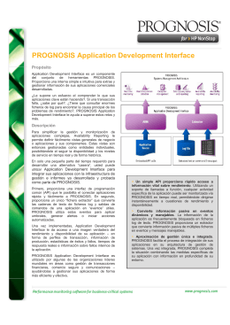 PROGNOSIS Application Development Interface