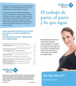 El trabajo de parto, el parto y lo que sigue