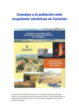 Consejos a la población ante erupciones volcánicas en