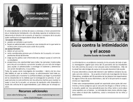 Guía contra la intimidación y el acoso