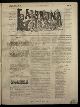 La Broma : del 18 de enero de 1883, nº 54