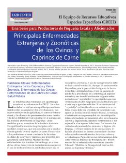 Principales Enfermedades Extranjeras y Zoonóticas de los Ovinos y
