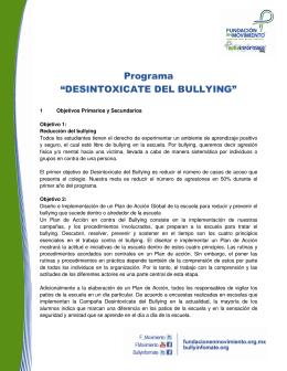 "Programa ""DESINTOXICATE DEL BULLYING"""