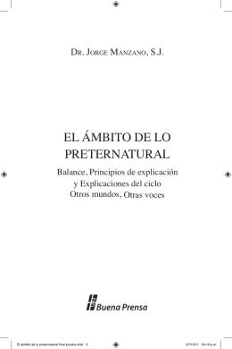 EL ÁMBITO DE LO PRETERNATURAL