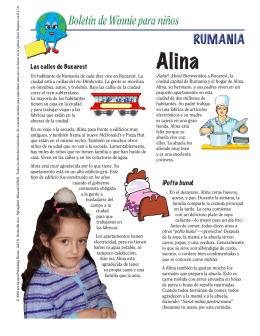 Boletín de Winnie para niños RUMANIA