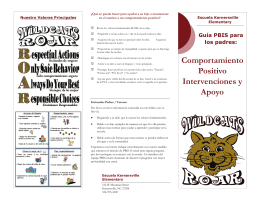 Kernersville Elementary PBIS Parent Brochure Spanish
