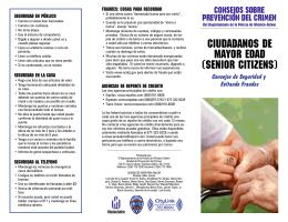CIUDADANOS DE MAYOR EDAD (SENIOR CITIZENS)