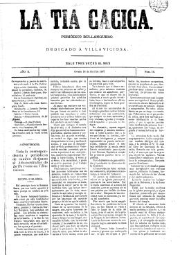 La Tía Cacica. 18 de abril de 1887