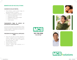 BENEFICIOS DE MCS SOLUTIONS