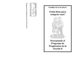 Presentando el Programa de Propietarios de la Sección 8