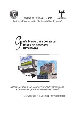 Folleto Guia Breve REDUNAM 2011 en PDF