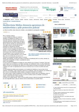 Mediterrània Médica denuncia agresiones de