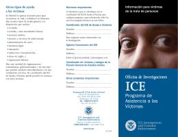 Oficina de Investigaciones Programa de Asistencia a las Víctimas