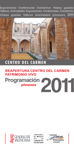 FOLLETO PROGRAMACIÓN 2011