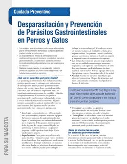 Desparasitación y Prevención de Parásitos Gastrointestinales en