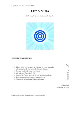 LUZ Y VIDA - Asociación Urantia de España