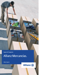 Folleto Mercancías - Allianz seguro seguros