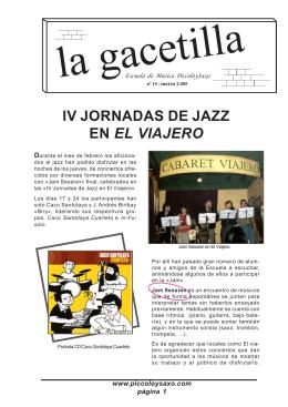 IV Jornadas de Jazz... Alberto Vidal... Asociación