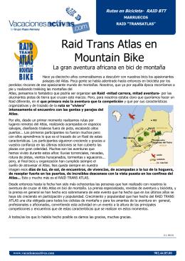 Raid Trans Atlas en Mountain Bike