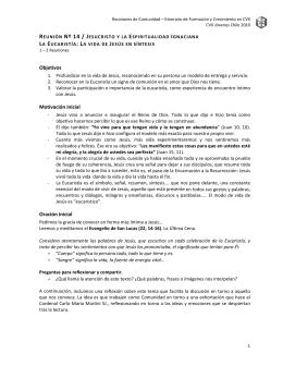 REUNIÓN Nº 11 / JESUCRISTO Y LA